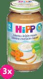 3x HIPP jemná zelenina s krůtím masem (220 g) - maso-zeleninový příkrm