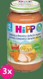 3x HIPP zelenina s těstovinami a kuřetem (220 g) - maso-zeleninový příkrm