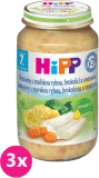 3x HIPP tagliatelle s mořskou rybou, brokolicí a smetanou (220 g) - maso-zeleninový příkrm