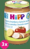 3x HIPP BIO Rajčata a brambory s kuřecím masem (220 g) - maso-zeleninový příkrm