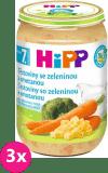 3x HIPP BIO Cestoviny so zeleninou a smotanou 220 g - zeleninový príkrm