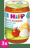 3x HIPP BIO rajčata se špagetami a mozzarelou (220 g) - zeleninový příkrm