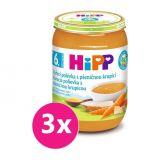 3x HIPP BIO Kuřecí polévka s pšeničnou krupicí (190 g)