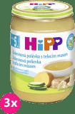3x HIPP BIO Zeleninová polievka s teľacím mäsom 190 g