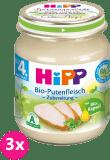 3x HIPP BIO krůtí maso (125 g) - masový příkrm