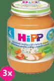 3x HIPP BIO zeleninová omáčka s rýží a kuřetem (125 g) - maso-zeleninový příkrm