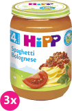 3x HIPP BIO špagety v boloňské omáčce (190 g) - maso-zeleninový příkrm