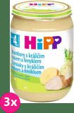 3x HIPP Brambory s králičím masem a fenyklem (190 g) - maso-zeleninový příkrm