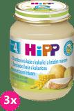 3x HIPP BIO Bramborové pyré s kukuřicí a krůtím masem (125 g) - maso-zeleninový příkrm