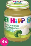 3x HIPP BIO Prvá brokolica 125 g - zeleninový príkrm