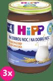 3x HIPP BIO Na dobrú noc krupicová (190 g) - mliečna kaša