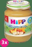 3x HIPP jablkový s banány a broskvemi (125 g) - ovocný příkrm
