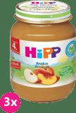 3x HIPP broskvový (125 g) - ovocný příkrm