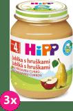 3x HIPP Jablká s hruškami (125 g) - ovocný príkrm