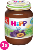 3x HIPP BIO švestkový (125 g) - ovocný příkrm