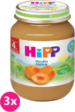3x HIPP BIO s meruňkami (125 g) - ovocný příkrm