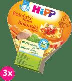 3x HIPP BIO boloňské lasagne (250 g) - maso-zeleninový příkrm
