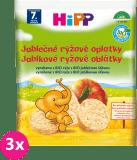 3x HIPP BIO jablečné rýžové oplatky pro děti (30 g)