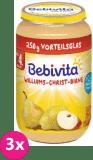 3x BEBIVITA Hrušky William Christ (250 g) – ovocný příkrm