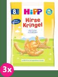 3x HIPP BIO Dětské obilné křupky, 30 g
