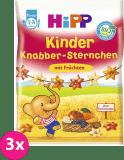 3x HIPP BIO Dětské ovocné obilné křupky, 30 g