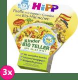 3x HIPP BIO Bezlepková paella se zeleninou a kuřecím masem, 250 g - maso-zeleninový příkrm