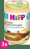 3x HIPP BIO Jemná bezlepková bramborová kaše s mrkví a hovězím masem, 220 g - maso-zeleninový příkrm