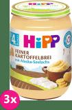 3x HIPP Jemná bezlepková bramborová kaše s aljašskou treskou, 190 g - maso-zeleninový příkrm