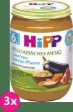 3x HIPP BIO Bezlepkový kuskus se zeleninou - vegetariánské menu, 190 g - zeleninový příkrm