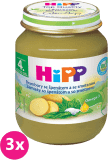 3x HIPP BIO Brambory se špenátem a se smetanou (125 g) - zeleninový příkrm