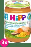 3x HIPP BIO Jemná zahradní zelenina se sladkými bramborami (190 g)