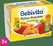 3x BEBIVITA Jemná ovocná směs (4x100 g) – ovocný příkrm