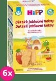 6x HIPP BIO dětské jablečné keksy (150 g)