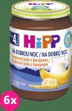 6x HIPP BIO Na dobrú noc krupicová s banánom (190 g) - mliečna kaša