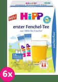 6x HIPP BIO Prvý feniklový čaj, rozpustný (15x 0.36 g) - až 30 porcií