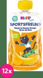 12x HIPP HiPPiS BIO Sport Hruška-Pomeranč-Mango-Banán-Rýže 120 g – ovocný příkrm