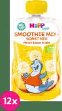 12x HIPP HiPPiS BIO Smoothie Jablko-Banán-Broskev 120 ml – ovocný příkrm