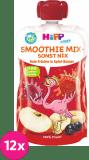 12x HIPP HiPPiS BIO Smoothie Jablko-Banán-Červené ovoce 120 ml – ovocný příkrm