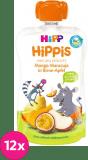 12x HIPP HiPPiS BIO 100% ovoce Hruška-Jablko-Mango-Marakuja 100 g – ovocný příkrm