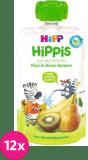 12x HIPP HiPPiS BIO 100% ovoce Hruška-Banán-Kiwi 100 g – ovocný příkrm