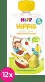 12x HIPP HiPPiS BIO 100% ovoce Jablko-Hruška-Banán 100 g – ovocný příkrm