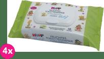 4x HIPP Babysanft Vlhčený toaletný papier ULTRA SENSITIVE, 50 ks