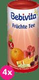 4x BEBIVITA Ovocný čaj (200 g) - instantný