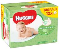 12x HUGGIES® Quatro Pack Natural Care 56 ks - vlhčené obrúsky