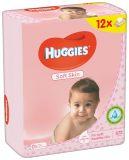 12x HUGGIES® Quatro Pack Soft Skin 56 ks - vlhčené obrúsky