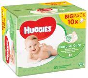 10x HUGGIES® Single Natural Care 56 ks - vlhčené obrúsky