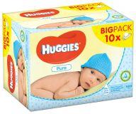 10x HUGGIES® Single Pure 56 ks - vlhčené ubrousky