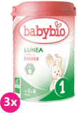 3x BABYBIO Lunea 1 Mleko początkowe (900 g)