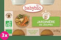 3x BABYBIO Příkrm zeleninová směs 2 x 130 g