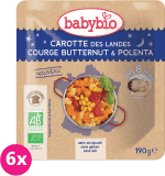 6x BABYBIO Marchewka z dynią masłową i polentą 8m+ (190 g)